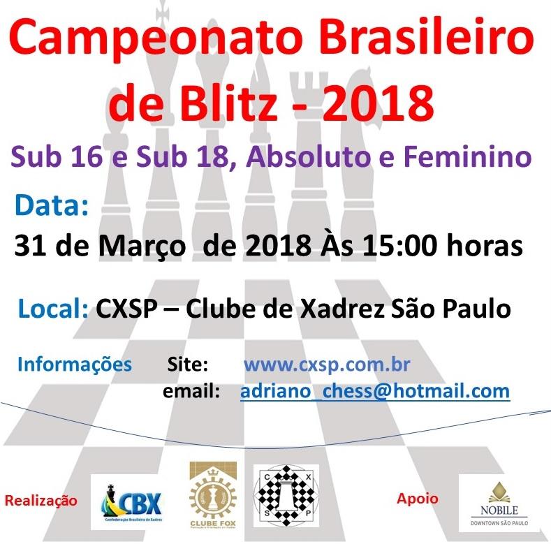 BRASILEIRO DE BLITZ 2018 – SUB 16 E 18