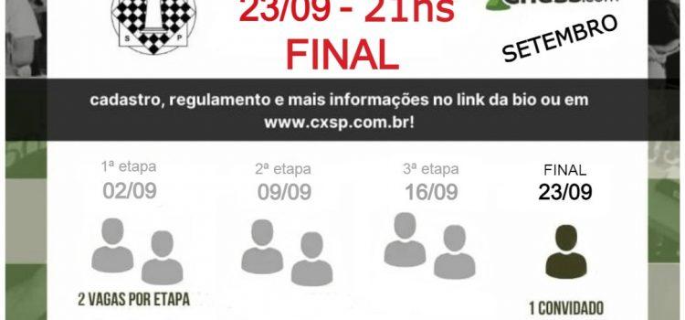23/09 – Final do torneio online CXSP às 21hs